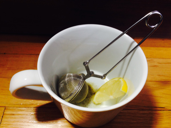 Yerba mate preparation with Tea infuser